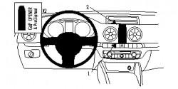 Fixation voiture Proclip  Brodit Audi A3 Réf 854804