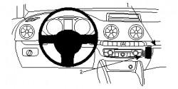 Fixation voiture Proclip  Brodit Audi A3 Réf 854805