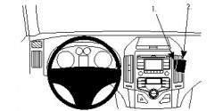 Fixation voiture Proclip  Brodit Hyundai i30 Réf 854810