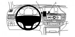 Fixation voiture Proclip  Brodit Honda Accord  Peut bloquer partiellement l'affichage des informations. Réf 854820