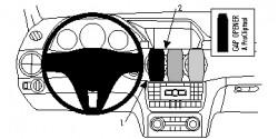 Fixation voiture Proclip  Brodit Mercedes Benz GLK-Class Réf 854825
