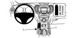Fixation voiture Proclip  Brodit Hyundai Santa Fe Réf 854833