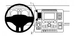Fixation voiture Proclip  Brodit Dodge Ram Pick Up 1500  PAS pour les modèles avec des engins de colonne shifter. Réf 854840
