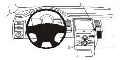 Fixation voiture Proclip  Brodit Ford Flex Réf 854845