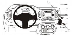 Fixation voiture Proclip  Brodit Fiat 500 L  UNIQUEMENT pour PopStar. Réf 854881