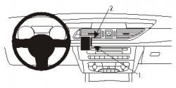 Fixation voiture Proclip  Brodit Audi A6 Réf 854892