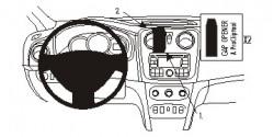 Fixation voiture Proclip  Brodit Dacia Logan Réf 854897