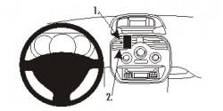 Fixation voiture Proclip  Brodit Renault Kangoo Réf 854939