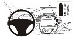 Fixation voiture Proclip  Brodit Renault Captur  PAS pour les modèles avec R Link. Réf 854942