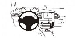Fixation voiture Peugeot 308 (Couvrira mais ne bloque pas l'accès au contrôle de la circulation de l'air). Réf Brodit 854952