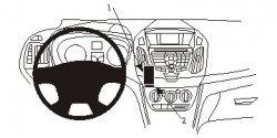 Fixation voiture Proclip  Brodit Ford Tourneo Connect  PAS pour Sony stéréo. Réf 854989