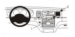 Fixation voiture Proclip  Brodit Lincoln Town Car Réf 854992