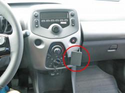 Fixation voiture Proclip  Brodit Citroen C1  PAS pour les modèles avec ACC. Réf 855035