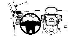 Fixation voiture Proclip  Brodit Kia Soul Réf 804255