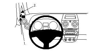Fixation voiture Proclip  Brodit Mitsubishi Colt Réf 804300
