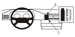 Fixation voiture Proclip  Brodit Mercedes Benz 124 (200-500E) Réf 852015