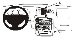 Fixation voiture Proclip  Brodit Ford Windstar Réf 852660