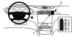Fixation voiture Proclip  Brodit Renault Laguna Réf 853186