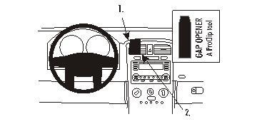 Fixation voiture Proclip  Brodit Chevrolet Equinox Réf 853458
