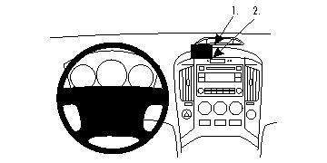 Fixation voiture Proclip  Brodit Hyundai H1 Réf 854470
