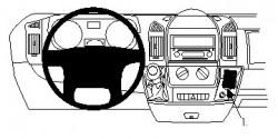 Accessoires de montage  Brodit Citroen Jumper Accessoires de montage Réf 213473