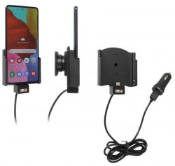 Support avec chargeur allume-cigare pour Samsung Galaxy A51. Réf Brodit 721206
