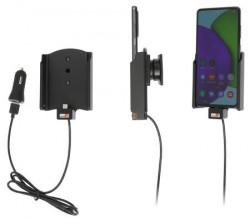 Support pour Samsung Galaxy A52 avec cable USB et adaptateur allume-cigare. Réf Brodit 721256