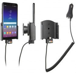 Support Samsung Galaxy A8 avec chargeur allume-cigare. Réf Brodit 712035