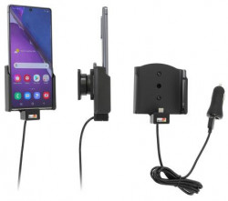 Support Samsung Galaxy Note 20 5G avec chargeur allume-cigare. Réf Brodit 721221