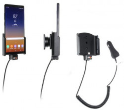 Support voiture Samsung Galaxy Note 8 avec chargeur allume-cigare. Réf Brodit 512999