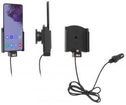 Support avec adaptateur allume-cigare et cable USB pour Samsung Galaxy S20 Plus 5G. Réf Brodit 721191