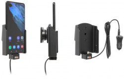 Support avec adaptateur allume-cigare et cable USB pour Samsung Galaxy S21+ 5G. Réf Brodit 721245