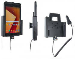 Support tablette Samsung Galaxy Tab Active 2 SM-T390/SM-T395 avec chargeur allume-cigare. Réf Brodit 712002