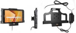 Support tablette Samsung Galaxy Tab Active 2 SM-T390/SM-T395 pour installation fixe - Recharge par pogo-pin. Réf Brodit 713003