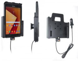 Support tablette Samsung Galaxy Tab Active 2. SM-T390/SM-T395 avec adaptateur allume-cigare et cable USB. Réf Brodit 721002
