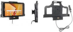 Support tablette Samsung Galaxy Tab Active 2 SM-T390/SM-T395 avec adaptateur allume-cigare et cable USB - recharge via le pogo-pin. Réf Brodit 721003