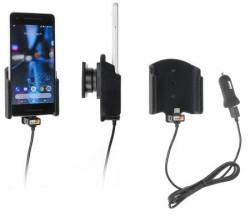 Support téléphone Google Pixel 2 avec adaptateur allume-cigare et cable USB. Réf Brodit 721014