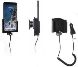 Support téléphone Google Pixel 2 XL avec chargeur allume-cigare. Réf Brodit 712015