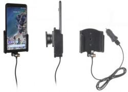 Support téléphone Google Pixel 2 XL avec adaptateur allume-cigare et cable USB. Réf Brodit 721015