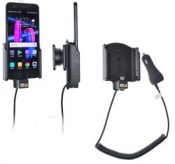 Support téléphone Huawei Honor 9 avec chargeur allume-cigare. Réf Brodit 712006