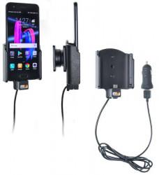 Support téléphone Huawei Honor 9 - avec adaptateur allume-cigare et cable USB. Réf Brodit 721006