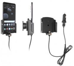 Support téléphone Huawei Mate 10 Pro avec adaptateur allume-cigare et cable USB. Réf Brodit 721032