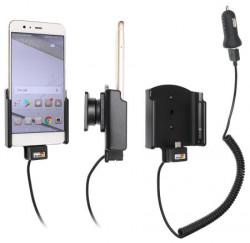 Support téléphone Huawei P10 Plus avec adaptateur allume-cigare et cable USB. Réf Brodit 721031