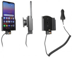 Support voiture Huawei P20 avec chargeur allume-cigare. Réf Brodit 712058