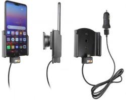 Support voiture Huawei P20 avec adaptateur allume-cigare et cable USB. Réf Brodit 721058