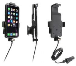 Support Apple iPhone 11 avec étui avec adaptateur allume-cigare et câble USB. Réf Brodit 721091