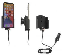 Support Apple iPhone 12 avec adaptateur allume-cigare et câble USB. Réf Brodit 721235