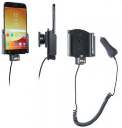 Support téléphone Samsung Galaxy J7 (2017) Sm-J730F avec chargeur allume-cigare. Réf Brodit 712004