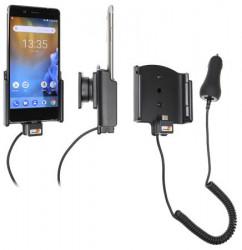 Support téléphone Nokia 8 avec chargeur allume-cigare. Réf Brodit 712030