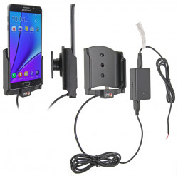 Support voiture  Brodit Samsung Galaxy Note 5  installation fixe - Avec rotule, connectique Molex. Chargeur 2A. Réf 513771